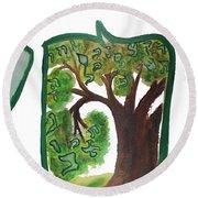 Chet, Tree Of Life  Ab21 Round Beach Towel