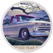 Chevy Truck Centennial 1964 Shortbed Custom Half Ton Round Beach Towel