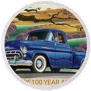 Chevy Truck Centennial 3100 Round Beach Towel