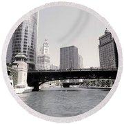Chicago River Round Beach Towel