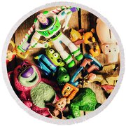 Childhood Collectibles Round Beach Towel