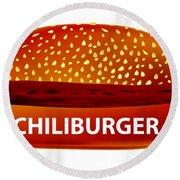 Chiliburger Round Beach Towel