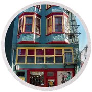 Round Beach Towel featuring the photograph Chinatown by Ross G Strachan