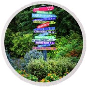 Round Beach Towel featuring the photograph Choices - Finger Lakes, New York by Lynn Bauer