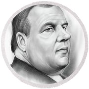 Chris Christie Round Beach Towel