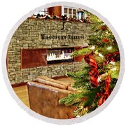 Christmas At Woodford Reserve Round Beach Towel