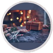 Christmas Pesent Round Beach Towel