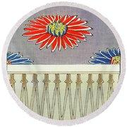 Chrysanthemum - Japanese Traditional Pattern Design Round Beach Towel