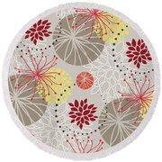 Chrysanthemum Pattern Round Beach Towel