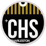 Chs Charleston Luggage Tag I Round Beach Towel