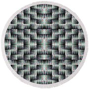 Round Beach Towel featuring the mixed media Chuarts Matiah by Clark Ulysse