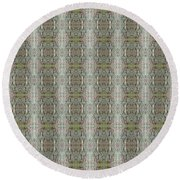 Round Beach Towel featuring the mixed media Chuarts Design 013019b by Clark Ulysse