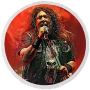 Chuck Billy, Testament Round Beach Towel