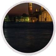 Round Beach Towel featuring the photograph Church Of San Giorgio Maggiore Before Sunrise by Tim Bryan