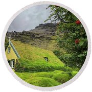 Church Of The Holy Moss Round Beach Towel