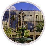 Round Beach Towel featuring the photograph Church Reflections by Tony Murtagh