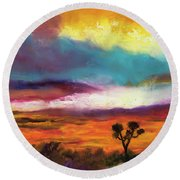 Cindy Beuoy - Arizona Sunset Round Beach Towel