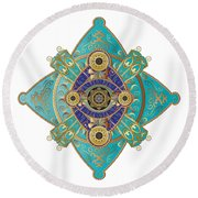 Circumplexical No 3698 Round Beach Towel