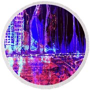 City By The Sea Right Round Beach Towel