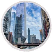City Reflections Round Beach Towel