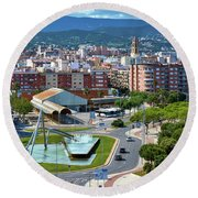 Cityscape In Reus, Spain Round Beach Towel
