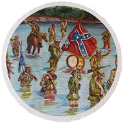 Civil War Battle, Spanish Fort, Mobile Bay, Mobile, Alabama Round Beach Towel