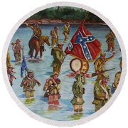 Civil War Battle, Spanish Fort, Spanish Fort,mobile Bay, Alabama Round Beach Towel