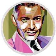 Clark Gable Round Beach Towel