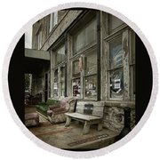 Round Beach Towel featuring the photograph Clarksdale by Jim Mathis
