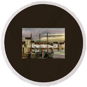Cladagh Sunset, Galway. Round Beach Towel