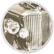 Classic Car Chrome Round Beach Towel