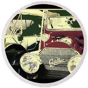 Classic Cars 10 Round Beach Towel
