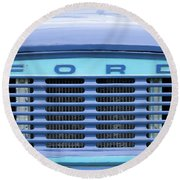 Classic Ford Transit Van Grille Round Beach Towel