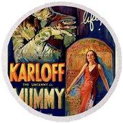 Classic Movie Poster - The Mummy Round Beach Towel