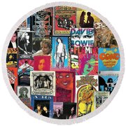 Classic Rock Collage 6 Round Beach Towel