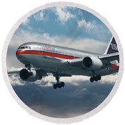 Classic Us Airways Round Beach Towel