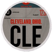 Cle Cleveland Luggage Tag I Round Beach Towel