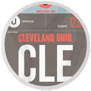 Cle Cleveland Luggage Tag II Round Beach Towel