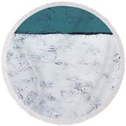 Clear And Bright Round Beach Towel