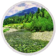 Clear Colorado Water Round Beach Towel