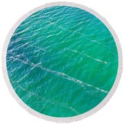 Clear Water Imagery  Round Beach Towel