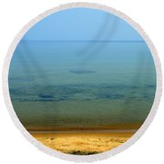 Clearness Of Lake Superior Round Beach Towel
