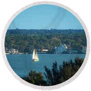 Clearwater Sails Round Beach Towel