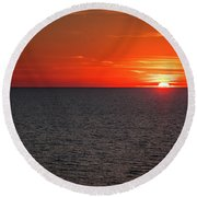 Clearwater Sunset Round Beach Towel