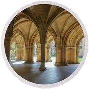 Cloister Around Round Beach Towel