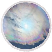Cloud Iridescence Round Beach Towel