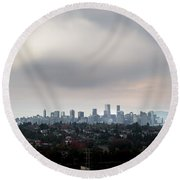Cloud On Vancouver  Round Beach Towel