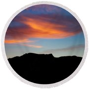 Cloud Over Mt. Boney Round Beach Towel