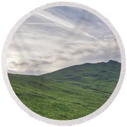 Clouds Over Thorpe Cloud Round Beach Towel