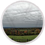 Cloudy Meadows Round Beach Towel